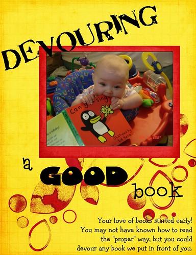 devouring a book