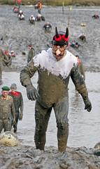 Maldon Mud Race 2009: KAISER BILL (pg tips2) Tags: christmas charity uk england people race river fun mud quote folk marathon january freezing saying newyear pg estuary event qu