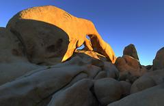 Sunset at Arch Rock (stvjackson) Tags: california sunset landscape nationalpark nikon rocks desert boulders mojave hdr joshuatreenationalpark d90 nikon1224mmf4