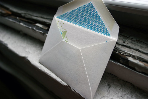 Lined envelope for letterpress card - Smock