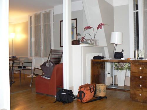 living room of unit 5f, villa guelma, paris