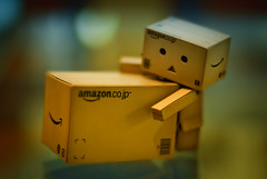 Ahhh, This is heavy. What could it be? (kktp_) Tags: anime toy thailand nikon dof bokeh boxes cardboardboxes danbo sb800 50mmf14d amazoncojp d80 revoltech nikoncls danboard