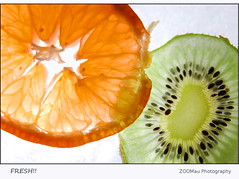 FRESH!! (zoomau) Tags: orange green ice fruit colours fresh mandarin kiwi abigfave theunforgettablepictures theperfectphotographer zoomau