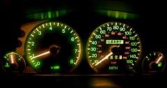 January 19th  19/365 (jamespreston365) Tags: temp car night canon dark lights revs bored numbers miles speedo mph fuel dials 400d