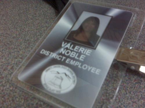 My work badge