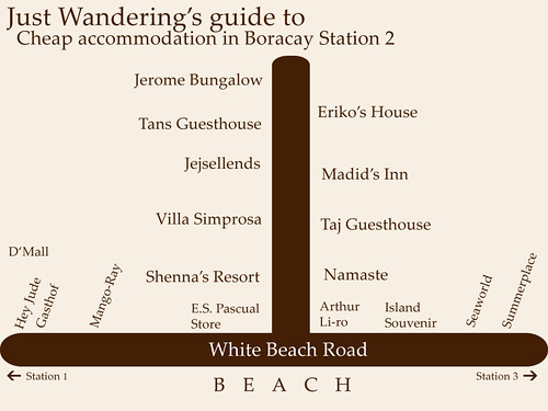 Guide to cheap accomodation in Boracay Station 2