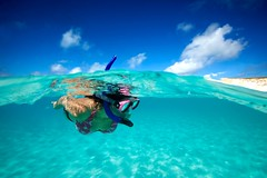 Snorkeler - Salt Cay, Turks and Caicos (James R.D. Scott) Tags: paradise underwater cay turksandcaicos snorkeler