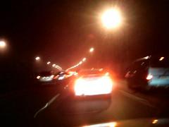 半夜一點的堵車盛況
