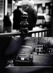 We'll get Lost Together,, (FUNKYAH) Tags: winter bw streets london sad taxi knightsbridge lostcouples