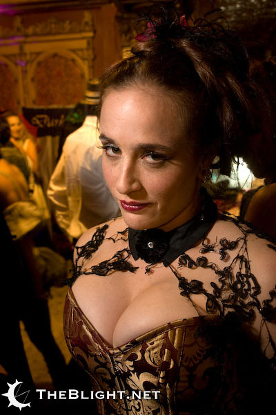 Whitney in Dark Garden at the Los Angeles Edwardian Ball by mr nightshade