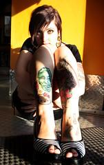 IMG_7717 (Venessa Nina) Tags: hello flowers woman hot cute sexy girl tattoo ink photography skull model industrial dress cupcake nina alison murphy inked tats heals kity venessa fivefootmohawk venessaninaphotography