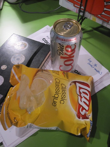 Diet Coke, chips - $2.50