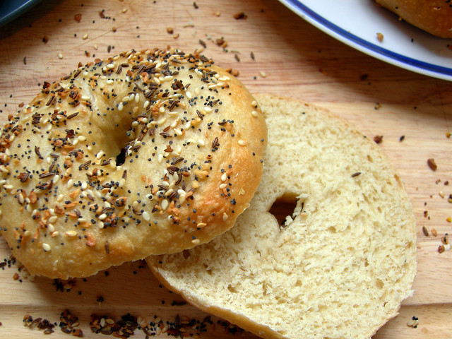 Everything Bagel Sliced