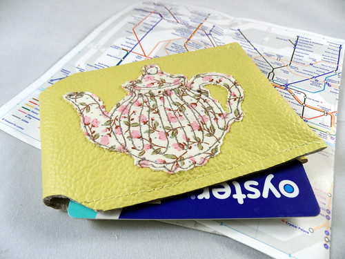 Yellow Teapot Oyster Card Holder by Tugba Kop Illustration