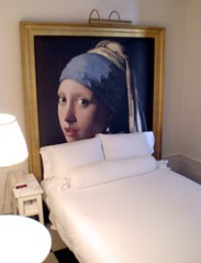 Girl With A Pearl Earring (patia) Tags: nyc newyork girl painting hotel bed room vermeer paramount phillipestarck pearlearring