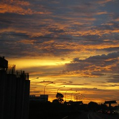 My Way ([Jongky]) Tags: sunset sky cloud sunrise highway rainyday jakarta rainy myway tangerang flickrstar eperke
