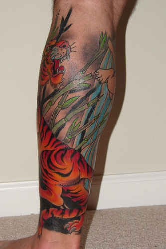 Leg Tattoo Back by DugJax