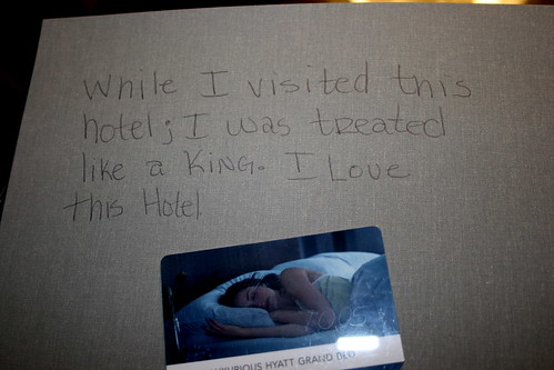 Awesome note a previous guest left for me to find at the Hyatt Bellevue by miss_rogue from Flickr