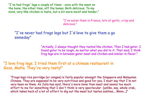 Frogs Legs Quotes