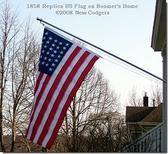 1858 US Flag on Boomer's Home ©2008 New Codgers