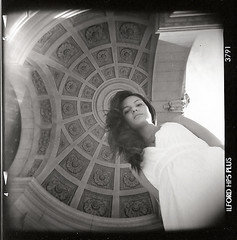 knockin' on heaven's door (Celeste) Tags: 6x6 film girl beautiful architecture holga buenosaires celesteromero