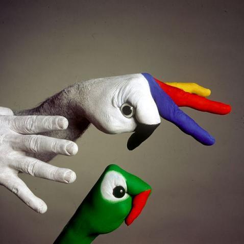 Human creative painting 13