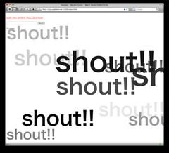 shoutter!