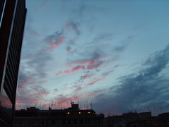 The sky of betrayal (GloKo) Tags: city pink blue sky night grey nuvole alba cielo notte citt