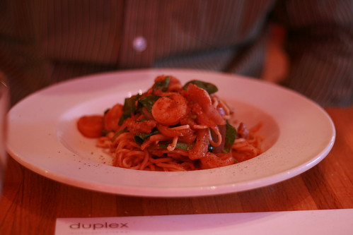 Shrimp with House Made Spaghetti