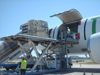 Relief flight from UNHRD Brindisi to Myanmar on May 10th 2008