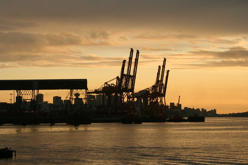 Port of Vancouver at sunset