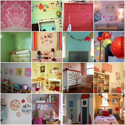 Kids Rooms at Home flickr group. I love this group! So many wonderful ideas!