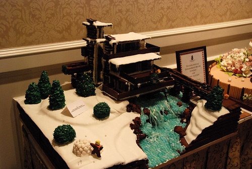 Fallingwater gingerbread house