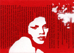 scent-1-72 pam glew (Pam Glew) Tags: street new fiction red urban white black art painting paper book stencil paint acrylic contemporary fear spray card pam page series spraypaint etsy spraycan editions glew