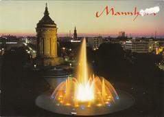 Mannheim, Germany (Bubble-Gum II) Tags: postcard postcrossing collection bubblegum