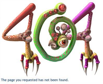Spore 404 Error Page