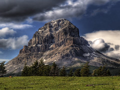 Crowsnest (ecstaticist) Tags: cloud mountain canada tree grass pine clouds frank rockies highway pass rocky slide canadian casio crowsnest hdr 5x photomatix exf1