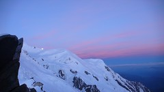 Mont Blanc at dawn from the Cosmiques hut (chaletlaforet) Tags: mountaineering chamonix aiguilledumidi cosmiquesarête