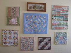 Doll Quilt Wall (WendysKnitch) Tags: wall doll quilts