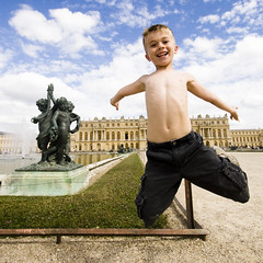 ole's School of jump (ole) Tags: boy paris france castle fountain statue happy jump jumping europe happiness wideangle versailles coleman bonheur junion