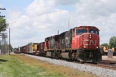 CN SD75I 5655 OWEN, WI 2008 (nordique72) Tags: wisconsin cn trains ore baldwin railroads canadiannational s12 switchers eriemining