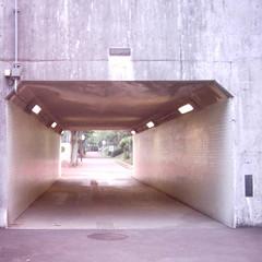 【写真】ミニデジで撮影した朝の風景(トンネル)
