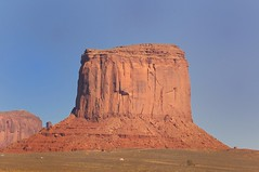 In the Monument Valley (Toby Dickens) Tags: blue red utah skylight arches navajo monumentvalley rockformation