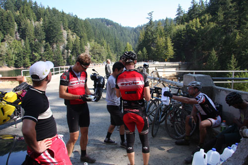 checkpoint at alpine dam