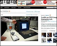 Un aparato del laboratorio forense informatico del FBI
