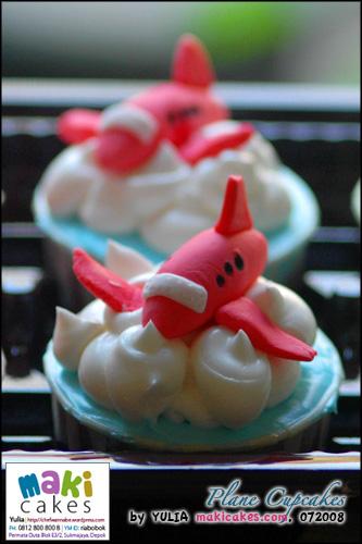 Plane Cupcakes - Maki Cakes