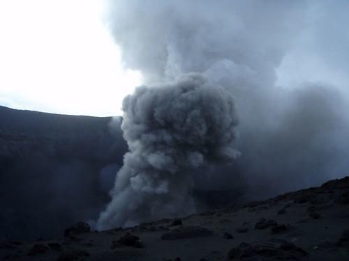 Mt. Yasur belching smoke