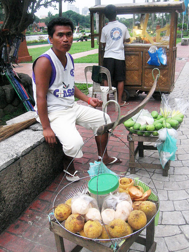 Santol and Green Mangoes peddler vendor in Luneta Rizal Park Manila city Manggang hilaw Pinoy Filipino Pilipino Buhay  people pictures photos life Philippinen  菲律宾  菲律賓  필리핀(공화국) Philippines mango
