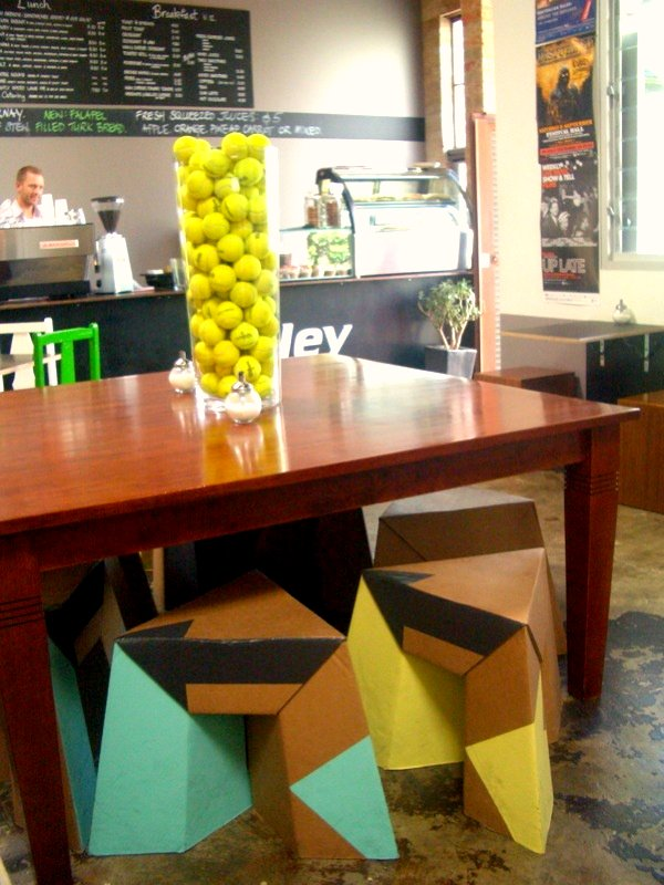 Paper Tiger stools at Volley Cafe