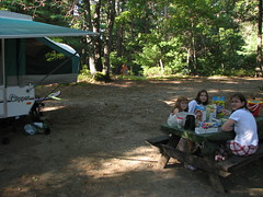 Our campsite at Massasoit State Park